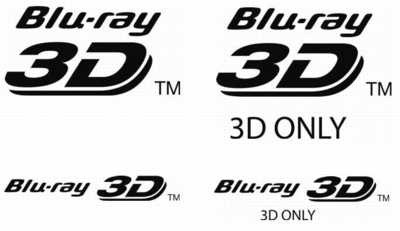 Blu-ray 3D and 3D only logos