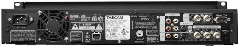 Tascam Unveils Bd R2000 Blu Ray Video Recorder 171 Hugh S News
