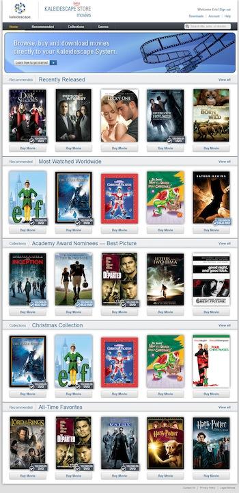 kaleidescape launches digital movie service 171 hughs news