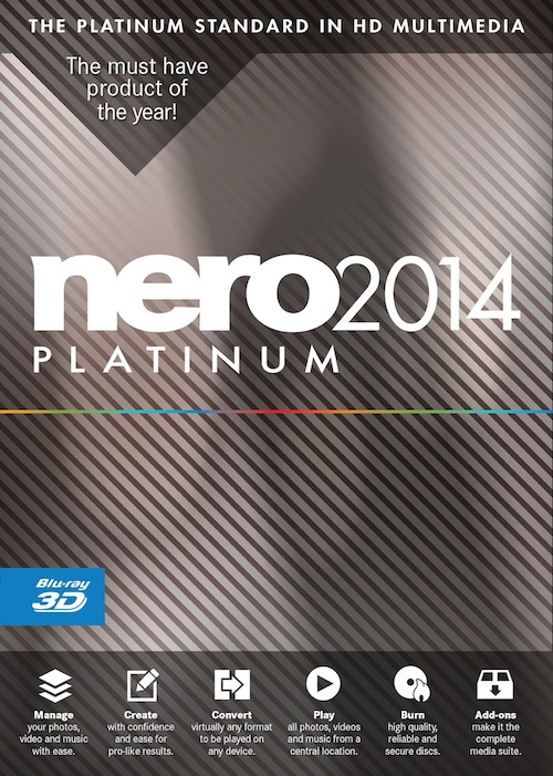 Nero 2014 hits the streets hughs news nero 2014 has arrived enjoy media anytime on any device with one click ccuart Choice Image