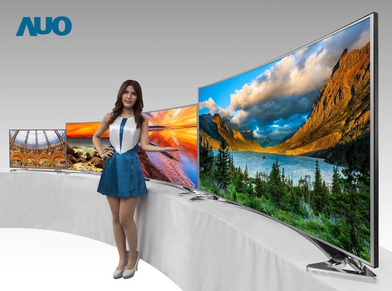 auo flaunts 4k ultra hd curved lcd tv displays hugh 39 s news. Black Bedroom Furniture Sets. Home Design Ideas